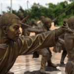 Sculptures of Shaolin Monks near Pattaya, Thailand.